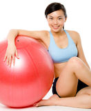 Me and My Fitball Royalty Free Stock Images
