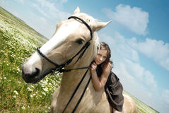 Me and my horse Royalty Free Stock Photography