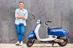 Me and my new scooter. Royalty Free Stock Photos