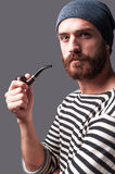 Me and my pipe. Stock Image