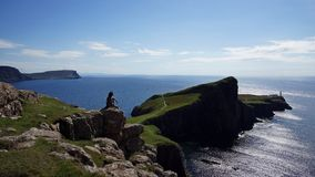 Isle of Skye: Me and the Ocean royalty free stock photo