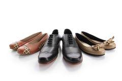 Me, Papa, en de schoenen van het Mamma stock afbeeldingen