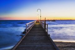 ME Port melbourne jetty sunset Stock Images