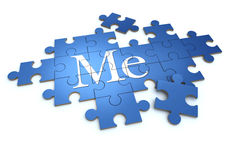 Me puzzle Stock Images