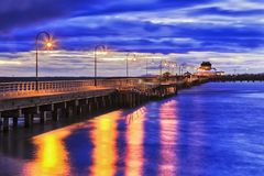 ME St Kilda Jetty Set Royalty Free Stock Photo