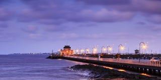 Me St Kilda Pier Panorama Stock Foto