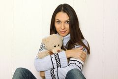 Me and Teddy Royalty Free Stock Photo