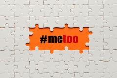 Me too hand lettering. A call to stand against sexual harassment, assault and violence toward women.  stock photos