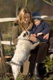 Me, u en de Hond stock fotografie