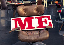 Free Me Written In Red On A Big White Board On An Office Chair Royalty Free Stock Images - 37916849