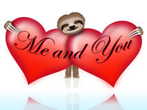 Me and you with the sloth Royalty Free Stock Photo