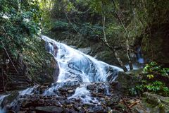 Mea kam pong water fall 2nd Fl. In chaing mai thailand Royalty Free Stock Image