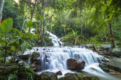 Mea kam pong water fall 1st Fl. In chaing mai thailand Stock Photo