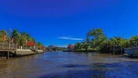 Mea Klong River en Thaïlande Photographie stock libre de droits