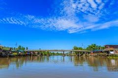 Mea Klong River en Thaïlande Images libres de droits