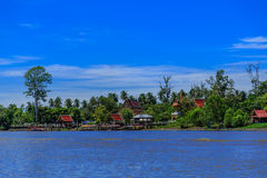 Mea Klong River in Thailand Lizenzfreies Stockfoto