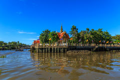 Mea Klong River in Thailand Royalty Free Stock Photos