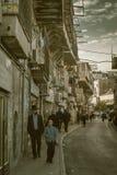 Mea Shearim in Jerusalem in Israel stock image