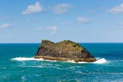 Meachard rock Boscastle coast Cornwall England UK on a beautiful sunny day Stock Photo