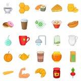 Mead icons set, cartoon style Royalty Free Stock Photos