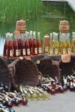 Mead/Miele-vino ad un mercato medievale Immagine Stock Libera da Diritti