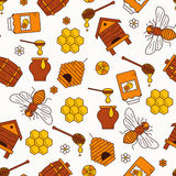 Mead seamless pattern illustration. Stock Photos