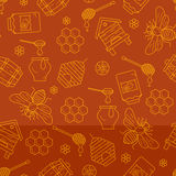 Mead seamless pattern illustration. Royalty Free Stock Photos