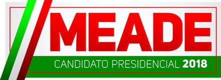 Meade Jose Antonio Meade Candidato presidencial 2018, kandyday na prezydenta 2018 hiszpański tekst, Meksykańscy wybory Fotografia Stock