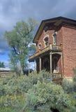 Meadeshotel, Bannack, MT Stock Afbeelding