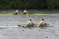 Meadlists in Men's Double Sculls, European Rowing Chamionships Royalty Free Stock Image