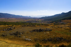 Meadow. In Lijiang, Yunnan province, China Royalty Free Stock Photos