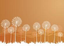 Meadow. Illustration with stylized flowers Stock Images