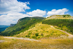 Meadow. Summer mountain landscape in Crimea, Ukraine Royalty Free Stock Photo