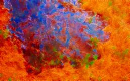 Meadow, abstract art, neo-impressionism Royalty Free Stock Image
