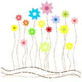 Stylized meadow on white background Royalty Free Stock Images