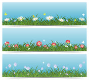 Meadow Banners Royalty Free Stock Photography
