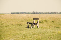 Meadow bench Stock Photography