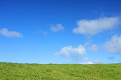 Meadow and blue sky Royalty Free Stock Photos