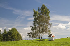 Meadow chapel in Allgaeu Stock Image