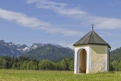 Meadow chapel in Isarwinkel Royalty Free Stock Image
