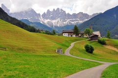 Meadow in Dolomites, Italy Royalty Free Stock Photos