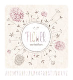 Meadow flowers and alphabet Royalty Free Stock Photo