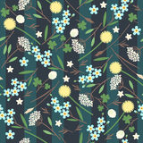 Meadow flowers seamless pattern Royalty Free Stock Photography