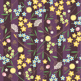 Meadow flowers seamless pattern Stock Photos