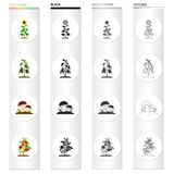 Meadow, forest, plot and other web icon in cartoon style.Raspberries, fruits, vegetables icons in set collection. Royalty Free Stock Images