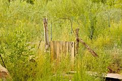 Meadow gate Stock Photography