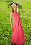 Meadow girl Royalty Free Stock Photo