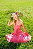 Meadow girl Stock Photos