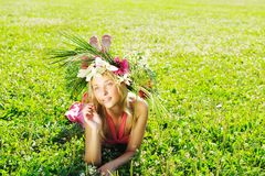 Meadow girl Royalty Free Stock Photos