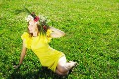 Meadow girl Stock Photo